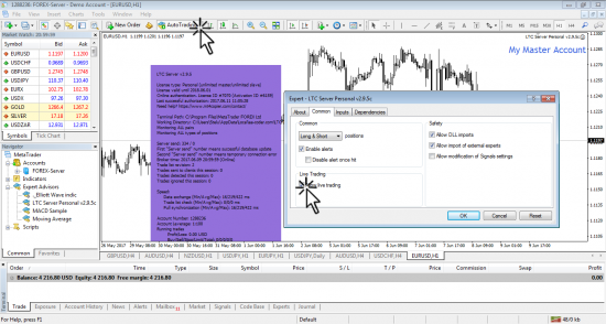 Allowing Live Trading and Auto Trading